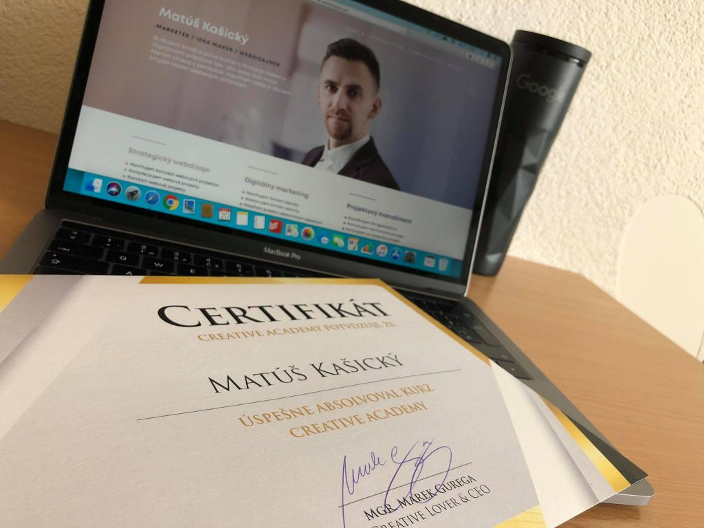 creative academy certifikat